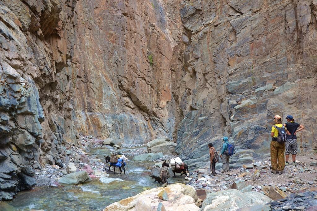 Abenteuerlicher und wegloser Abstieg